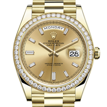 Men - Rolex Day-Date 40 Oyster, 40 mm, yellow gold and diamonds M228348RBR-0002 - M228348RBR-0002