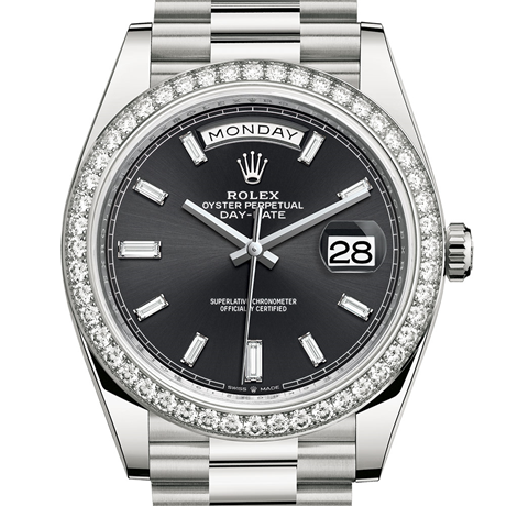 Rolex Day-Date 40 Oyster, 40 mm, white gold and diamonds M228349RBR-0003
