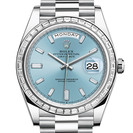 Rolex Day-Date 40 Oyster, 40 mm, platinum and diamonds M228396TBR-0002