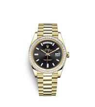 Rolex Day-Date 40 Oyster, 40 mm, yellow gold and diamonds M228398TBR-0001