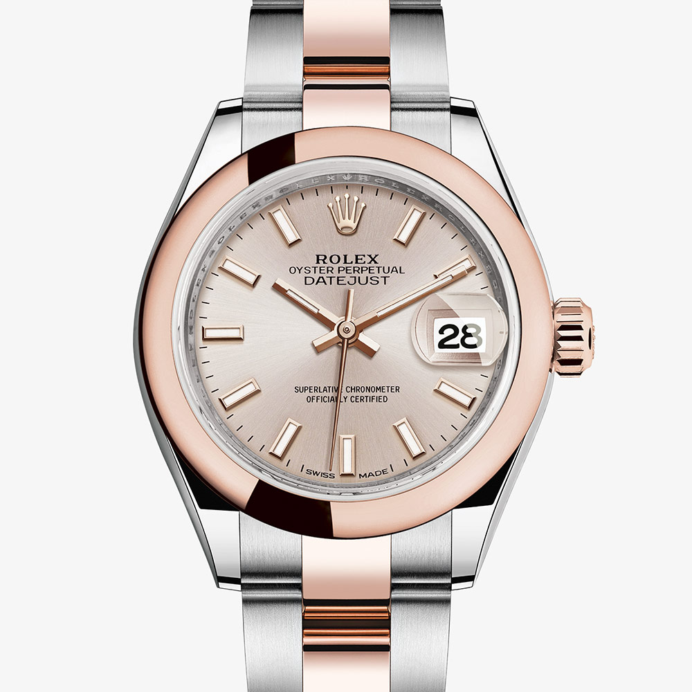 99b87bba589 Rolex Lady-Datejust Oyster, 28 mm, Oystersteel and Everose gold  M279161-0002 | Ladies Watches | Rolex Watches | Mappin & Webb