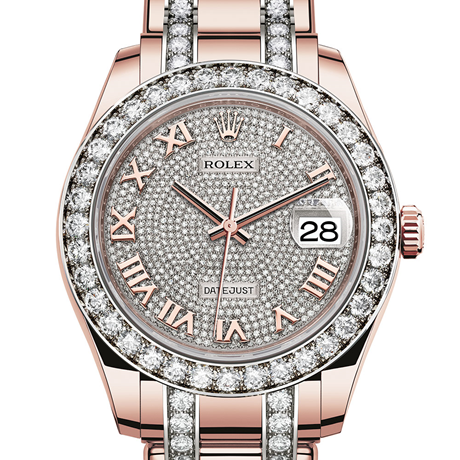 Rolex Pearlmaster 39 Oyster, 39 mm, Everose gold and diamonds M86285-0001