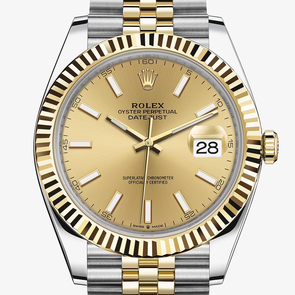 Rolex Datejust 41 Oyster, 41 mm, Oystersteel and yellow gold M126333,0010