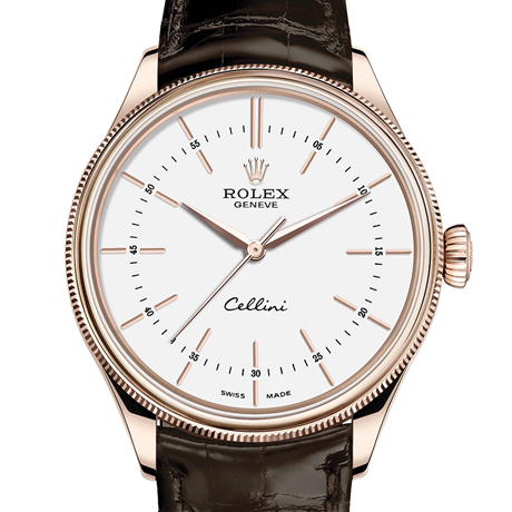 Rolex Cellini Time 39 mm, 18 ct Everose gold, polished finish M50505-0020