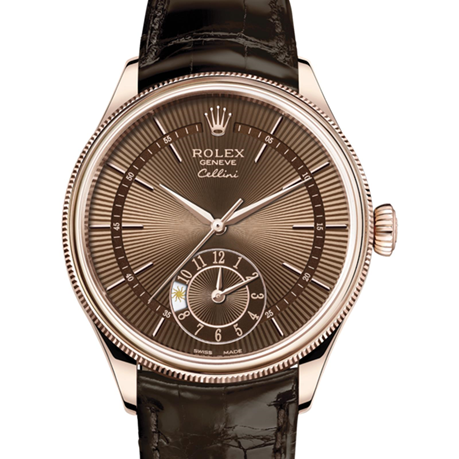 Rolex Cellini Dual Time 39 mm, 18 kt Everose gold, polished finish M50525-0015
