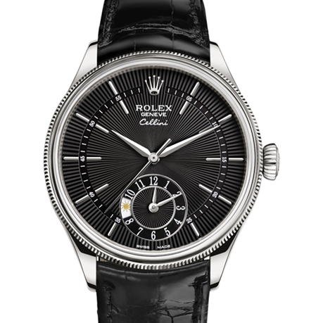 Rolex Cellini Dual Time 39 mm, 18 ct white gold, polished finish M50529-0007