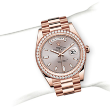 Rolex Day-Date Oyster, 40 mm, Everose gold and diamonds M228345RBR-0007