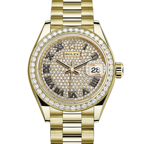 Rolex Lady-Datejust Oyster, 28 mm, yellow gold and diamonds M279138RBR-0029