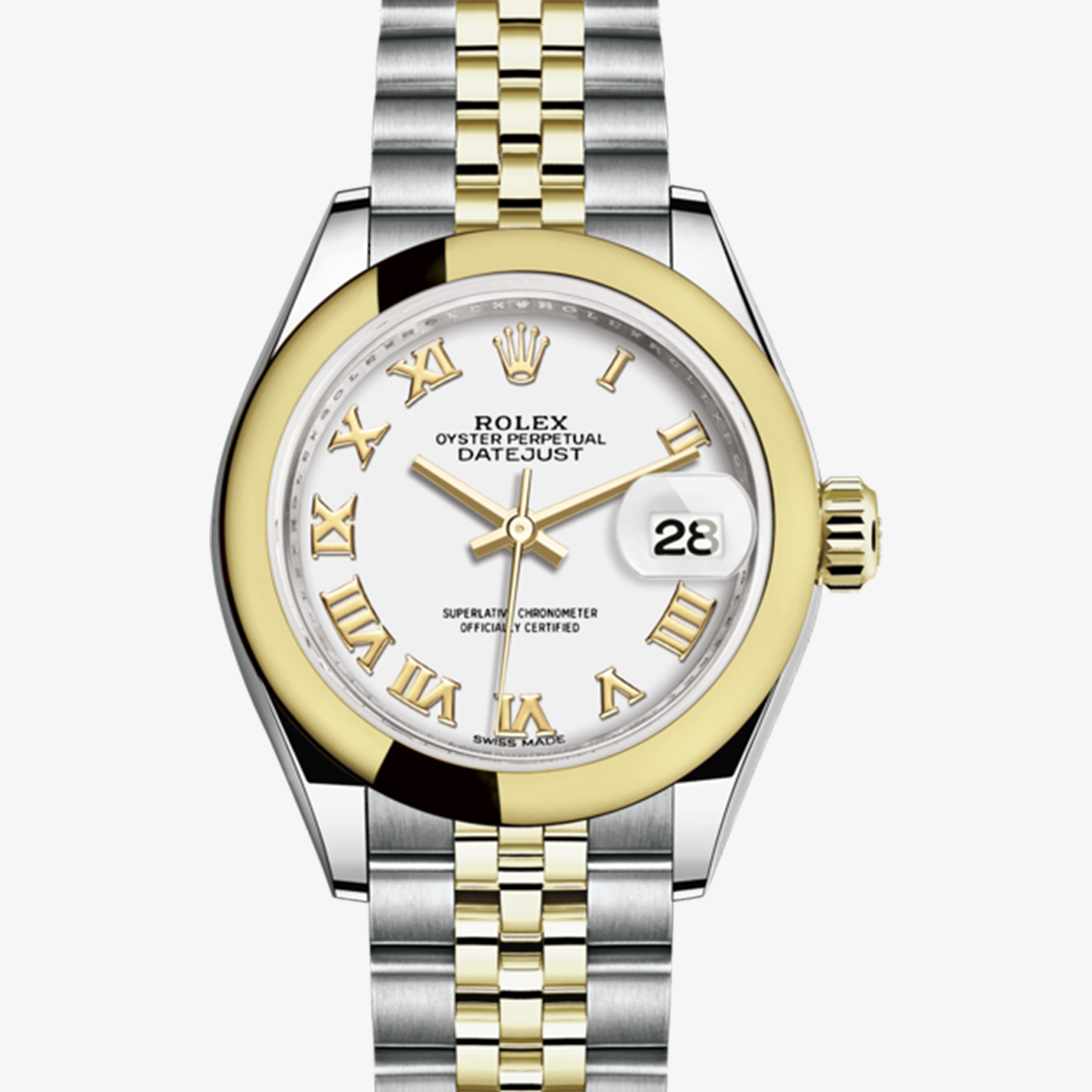 2c5d1d0d862 Rolex Lady-Datejust Oyster, 28 mm, Oystersteel and yellow gold M279163-0023  | Ladies Watches | Rolex Watches | Mappin & Webb