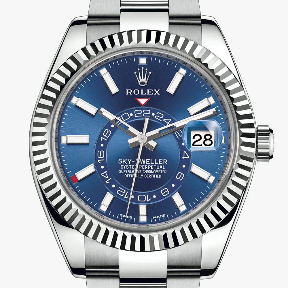 Rolex Sky,Dweller Oyster, 42 mm, Oystersteel and white gold M326934,0003