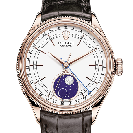 Rolex Cellini Moonphase 39 mm, 18 ct Everose gold, polished finish M50535-0002