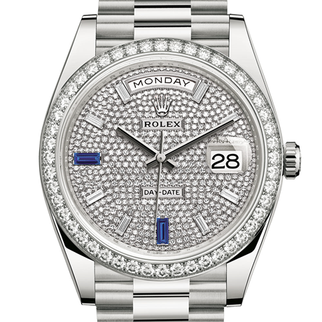 Rolex Day-Date 40 Oyster, 40 mm, white gold and diamonds M228349RBR-0036