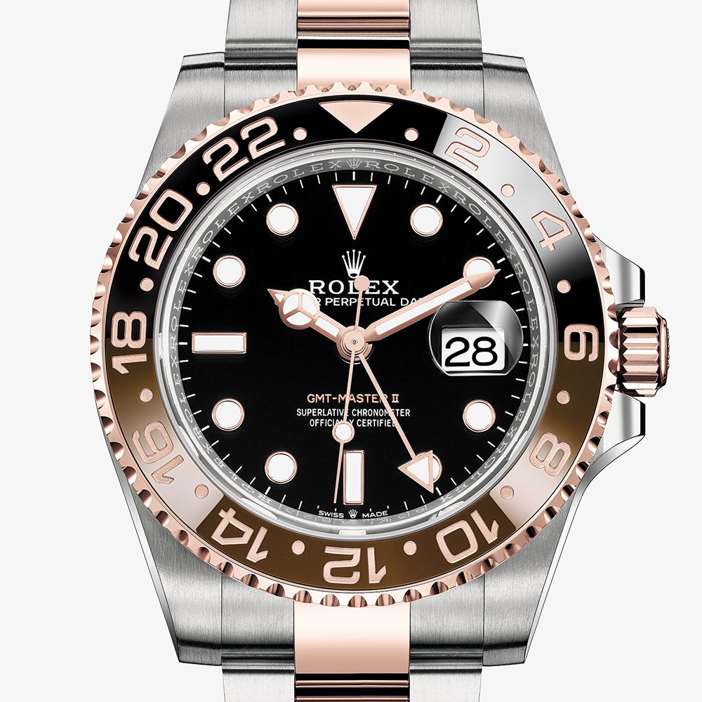Rolex Gmt Master Ii Oyster 40 Mm Oystersteel And Everose Gold M126711chnr 0002 Rolex Watches Goldsmiths