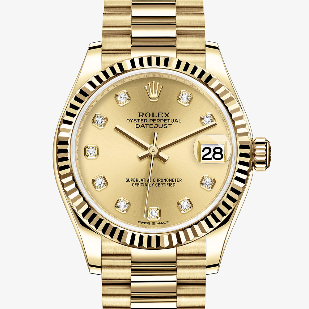Rolex Datejust 31 Oyster, 31 mm, yellow gold M278278,0009