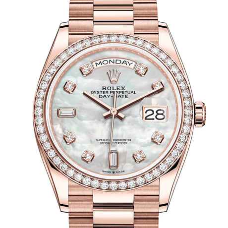 Rolex Day-Date 36 Oyster, 36 mm, Everose gold and diamonds M128345RBR-0028