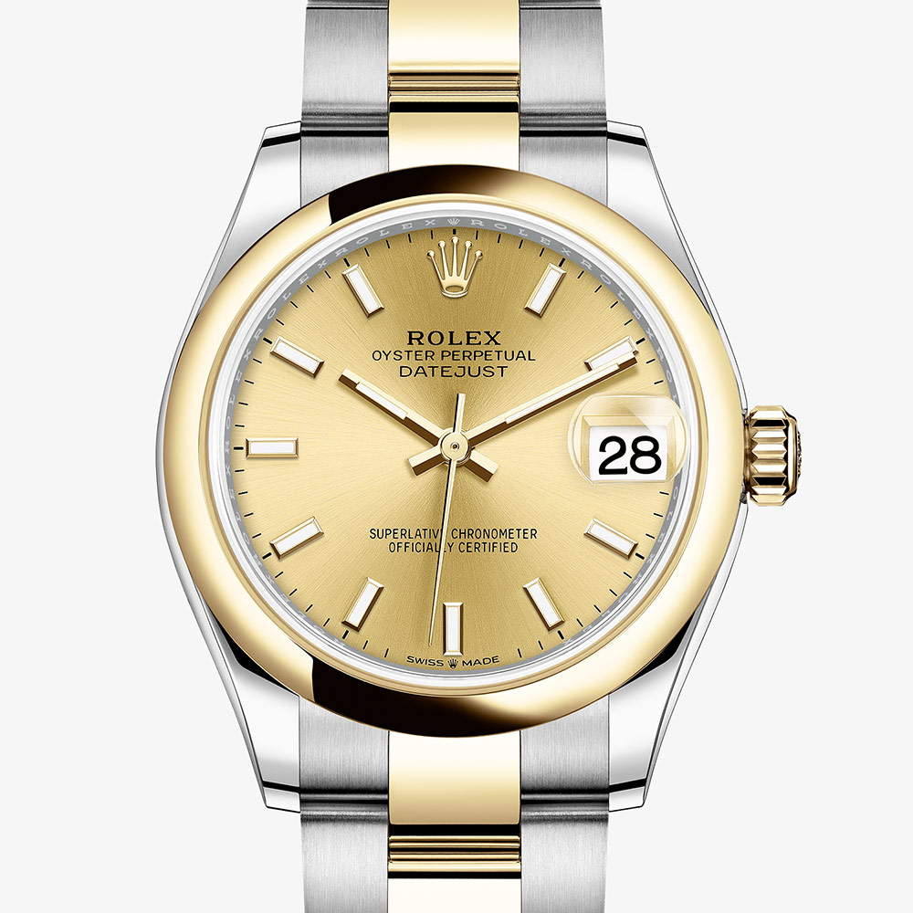 Rolex Datejust 31 Oyster, 31 mm, Oystersteel and yellow gold M278243,0013