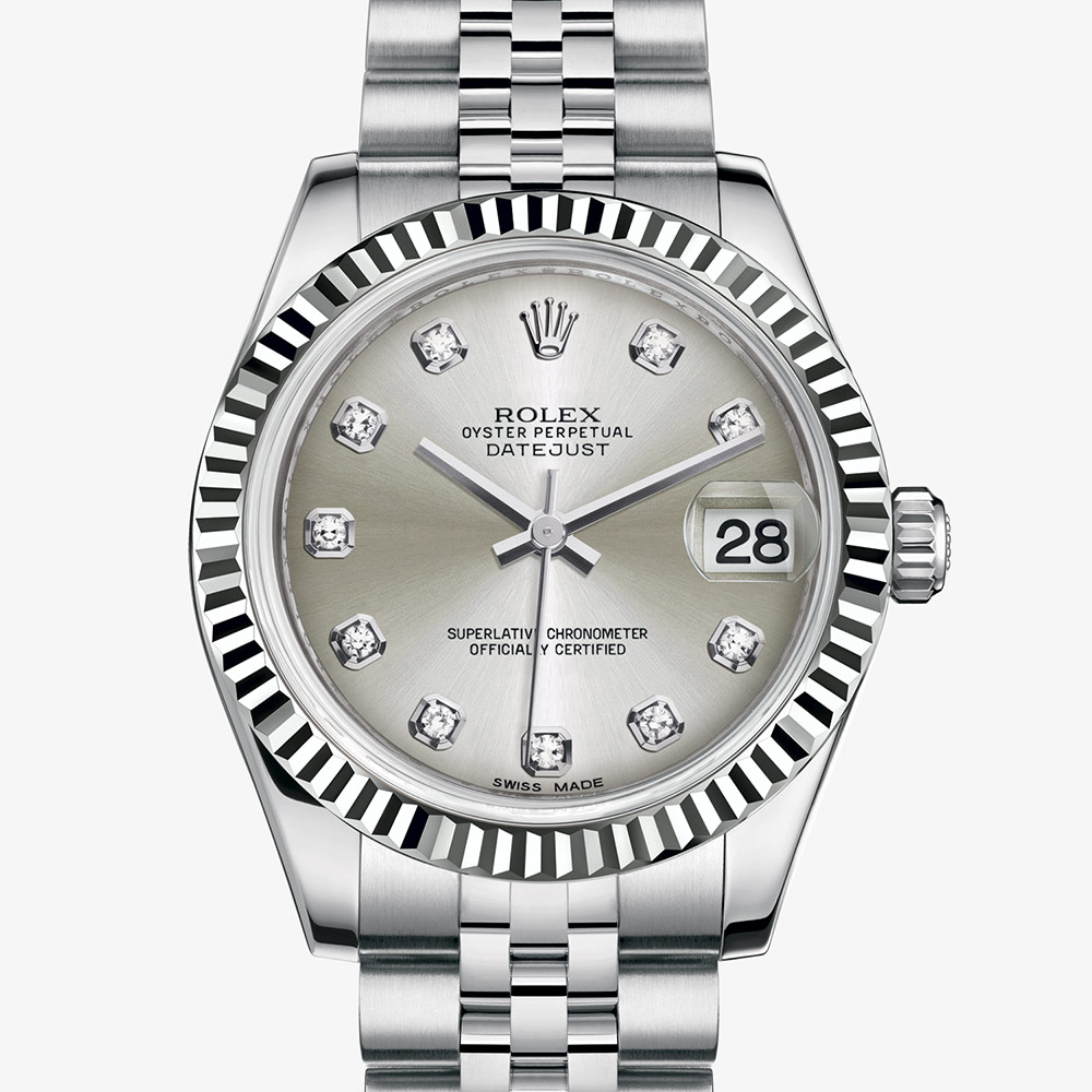 Rolex Datejust 31 Oyster, 31 mm, Oystersteel and white gold M178274,0018