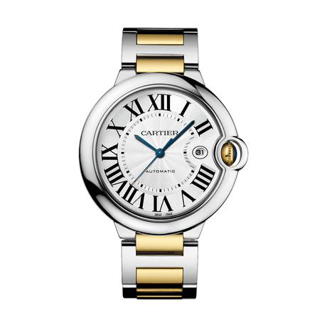 Ballon Bleu de Cartier watch, 42 mm, 18K yellow gold, steel