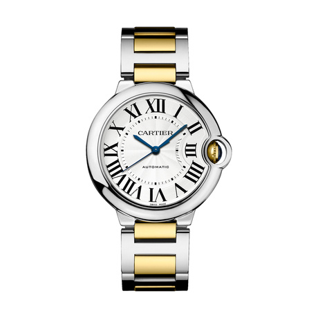 Ballon Bleu de Cartier watch, 36 mm, 18K gold and steel