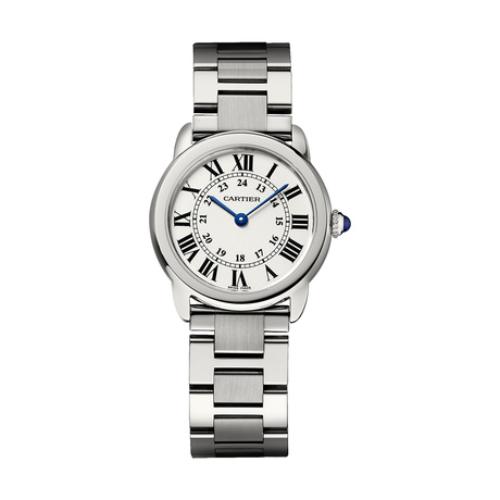 Ronde Solo de Cartier watch, 29 mm, steel