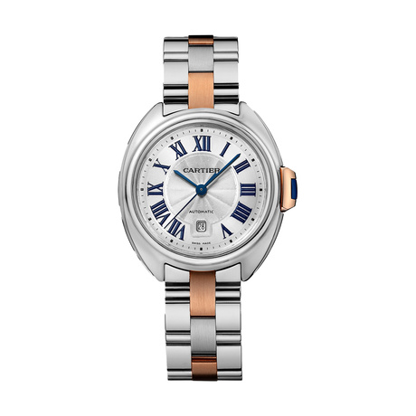 Clé de Cartier watch, 31 mm, 18K rose gold, steel