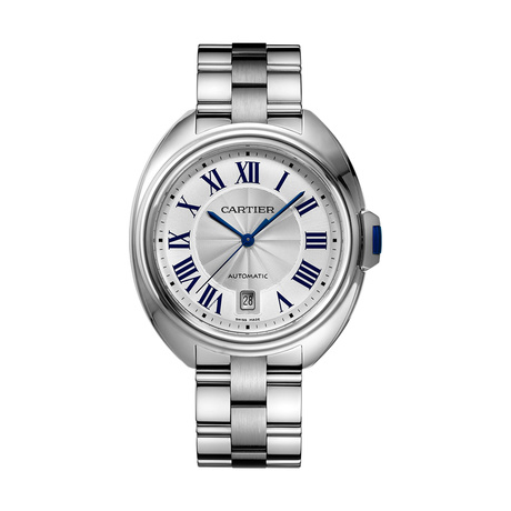 Clé de Cartier watch, 40 mm, steel