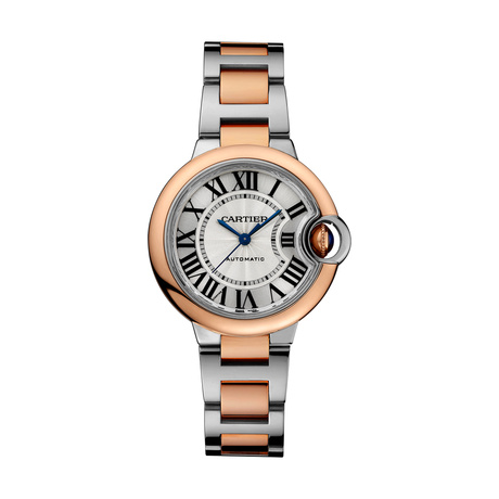 Ballon Bleu de Cartier watch, 33 mm, 18K rose gold, steel