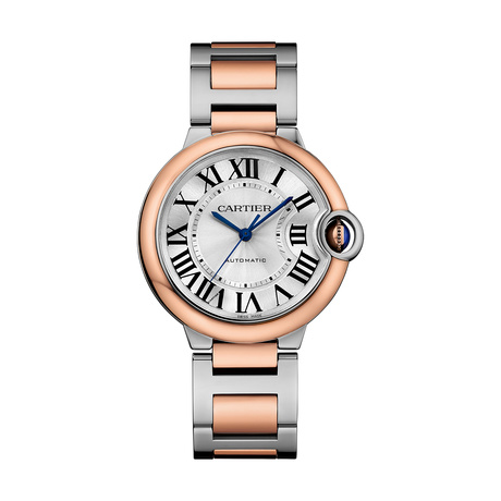 Ballon Bleu de Cartier watch, 36 mm, 18K rose gold and steel