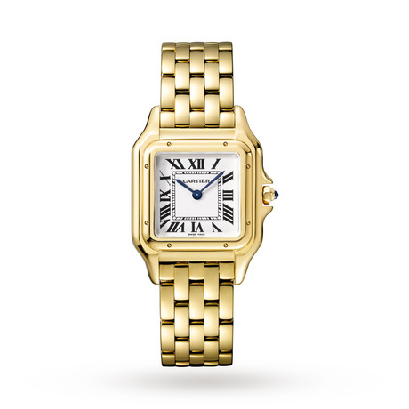 Panthère de Cartier watch, Medium model, yellow gold