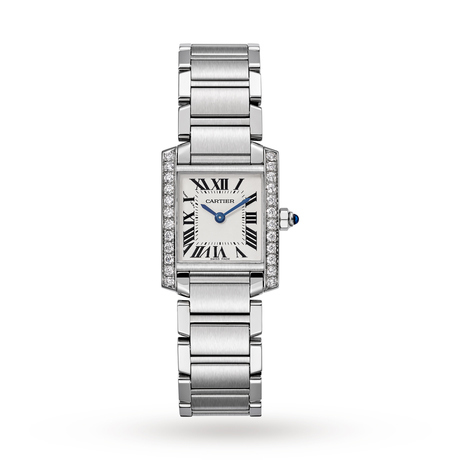 Cartier Tank Française watch, Small model, steel, diamonds