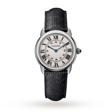 Montre Ronde Solo de Cartier, 29mm, steel, leather