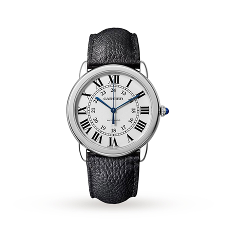 Montre Ronde Solo de Cartier, 36mm, steel, leather