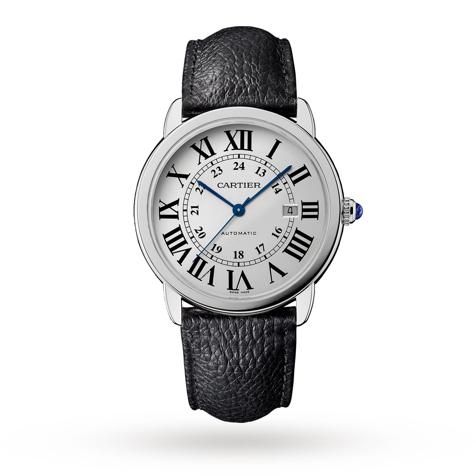Montre Ronde Solo de Cartier, 42mm, steel, leather