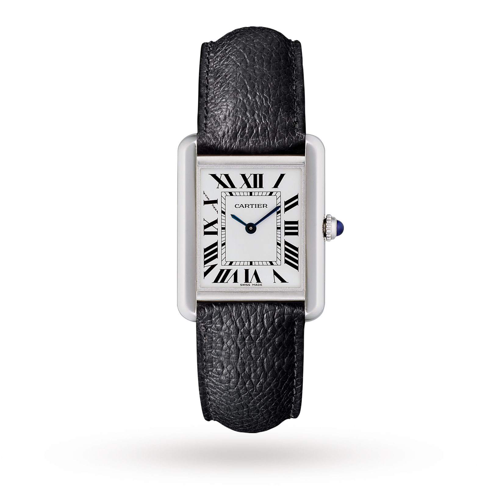 Cartier Montre Tank Solo, Small model, steel, leather