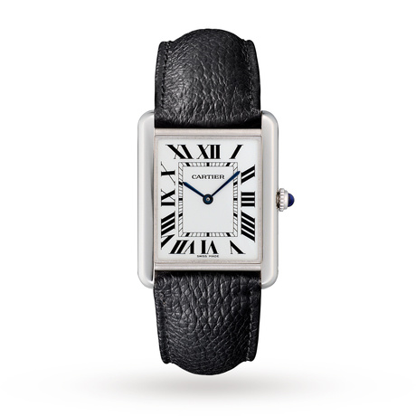 Cartier Montre Tank Solo, Large model, steel, leather