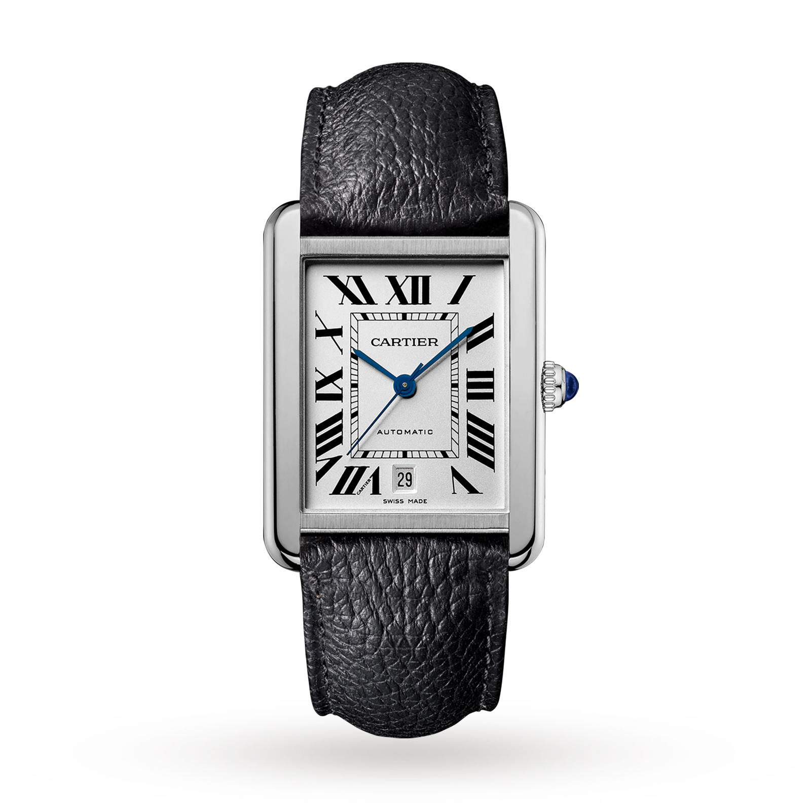 americaine watch store steel shop cartier band black with leather white watches tank replica