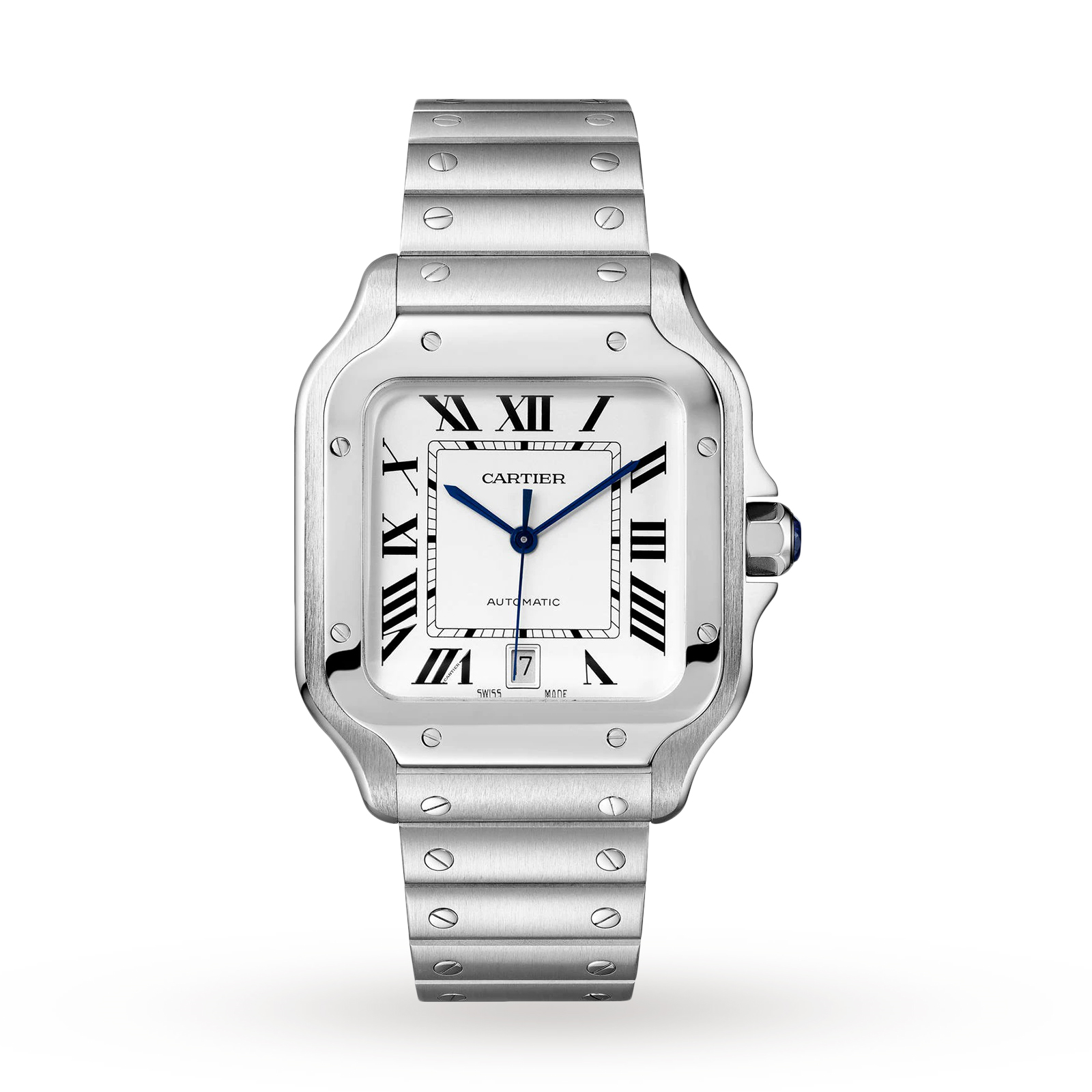 Santos de Cartier watch, Large model, automatic, steel, t ...