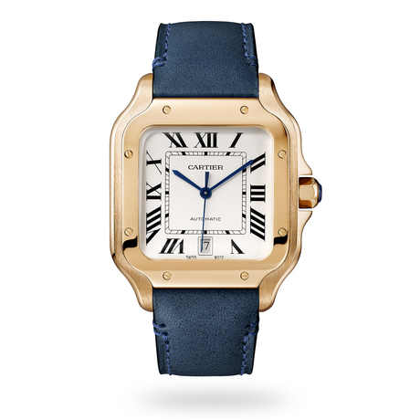 Santos de Cartier watch, Large model, automatic, rose gold, two interchangeable straps
