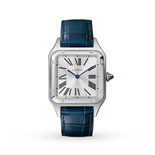 Cartier Santos- Dumont Large model, steel, leather
