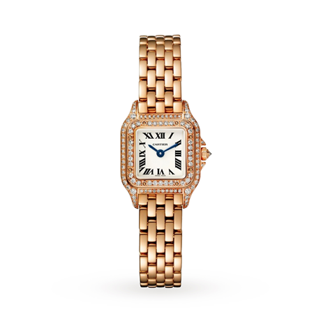 Panthère de Cartier watch, Small Model, 18ct rose gold and diamonds