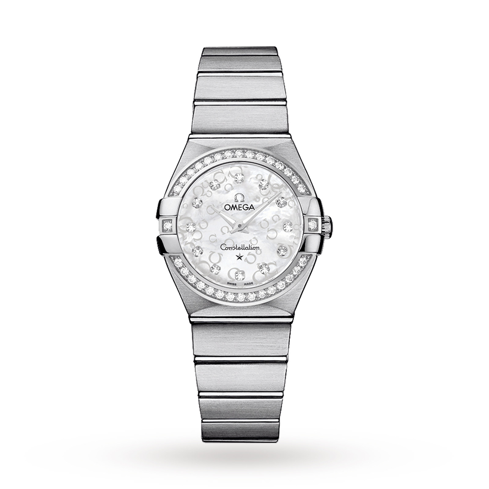 Omega constellation ladies diamond set watch luxury watches watches mappin webb for Omega watch constellation