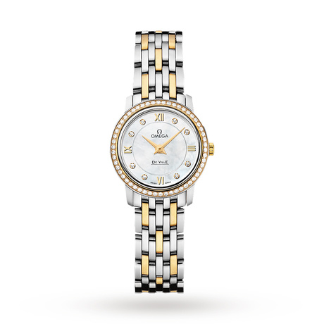 Omega De Ville Prestige Ladies 24.4mm Quartz Diamond Watch