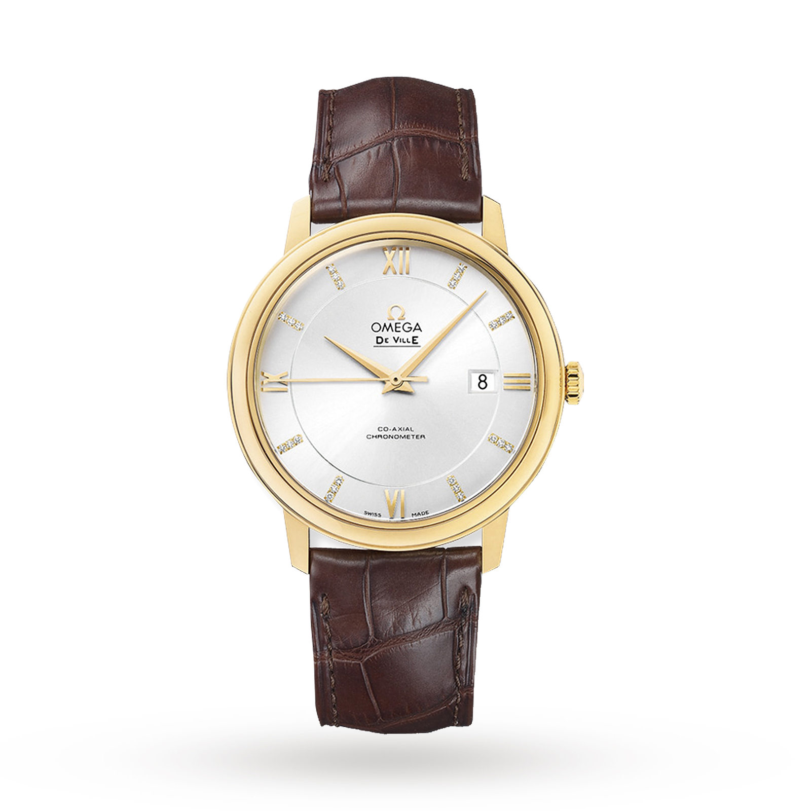 Omega De Ville Mens Co-Axial 39.5mm 18ct Gold Automatic Watch