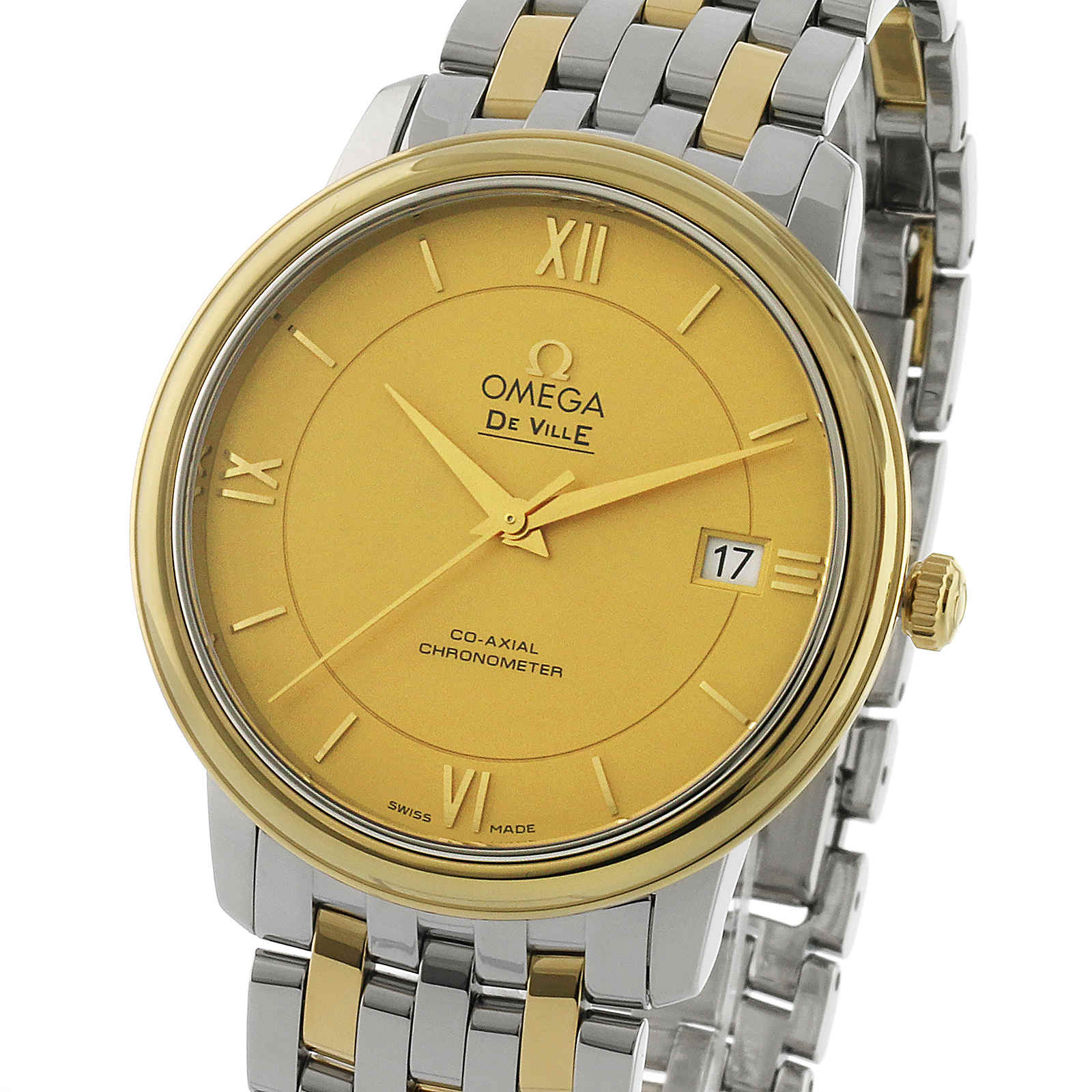 Omega De Ville Prestige Mens 37mm Automatic Co-Axial ...