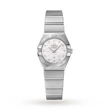 Omega Constellation Ladies 24mm Quartz Diamond Dot Watch