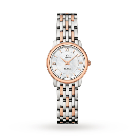 Omega De Ville Ladies 24mm Quartz Bicolour Watch