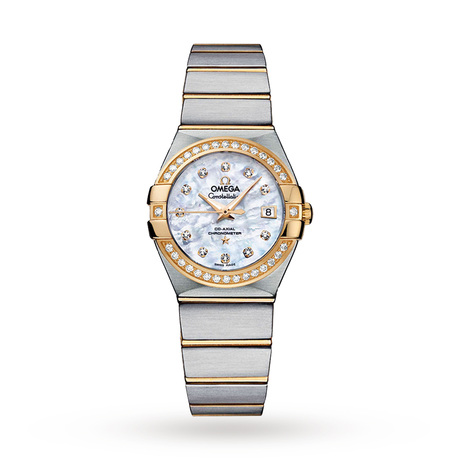 Omega Constellation Ladies 27mm Automatic Co-Axial Diamond Watch