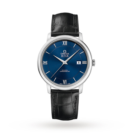 Omega De Ville Prestige Mens 39.5mm Automatic Co-Axial Blue Watch