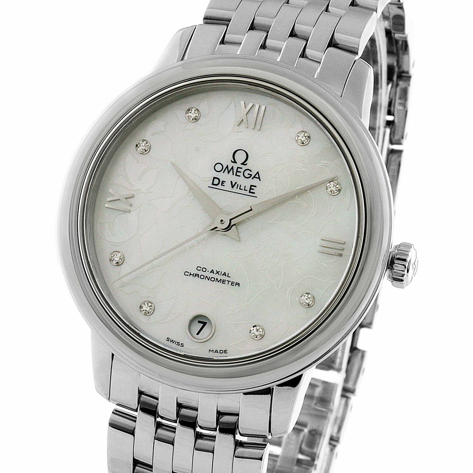 Omega De Ville Prestige Ladies 32.7mm Co-Axial Automatic ...
