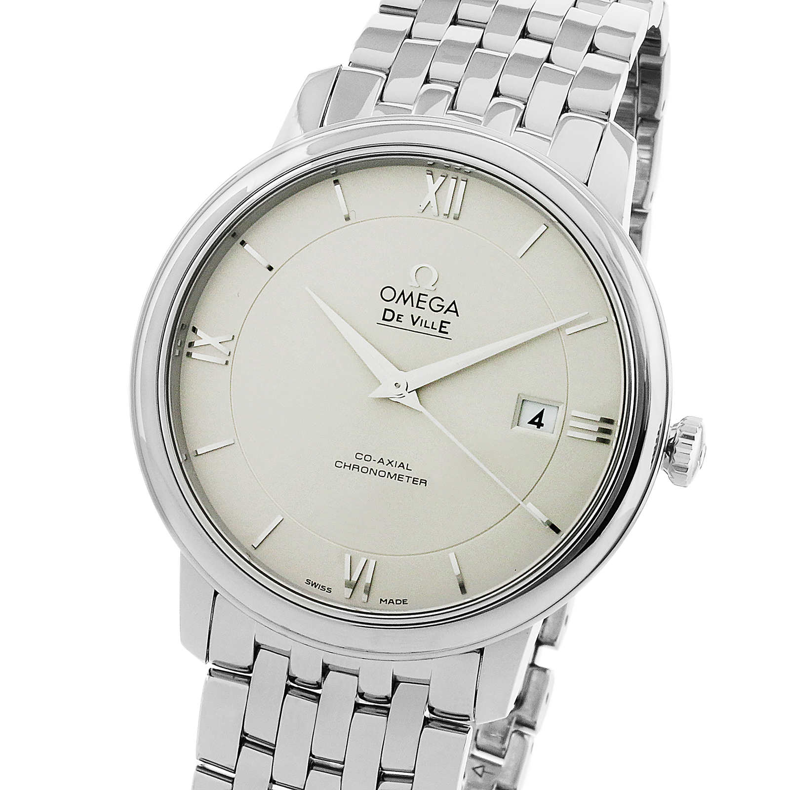 Omega De Ville Prestige Mens 39.5mm Automatic Co-Axial ...